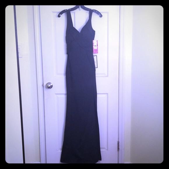 Emerald Sundae Long Black Dress